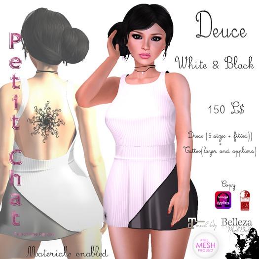 PC-Deuce Dress white-black